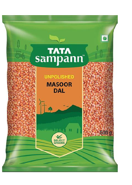 Tata Sampann Masoor Dal (Unpolished) - 500 g