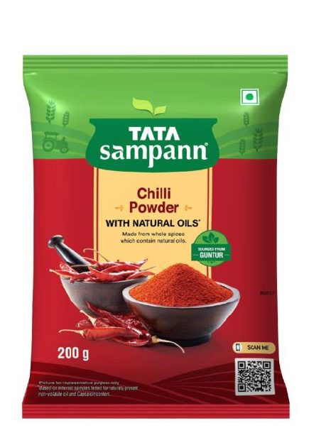 Tata Sampann Chilli Powder (With Natural Oils) - 200 g
