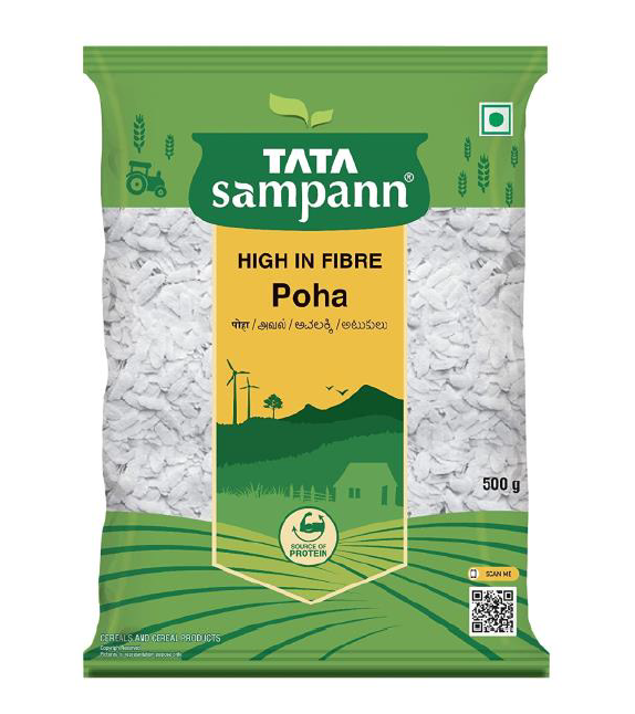 Tata Sampann Poha (High in Fibre) - 500 g