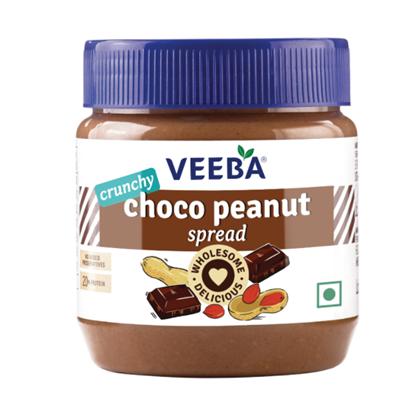 Veeba Choco Peanut Spread - Crunchy 340 g