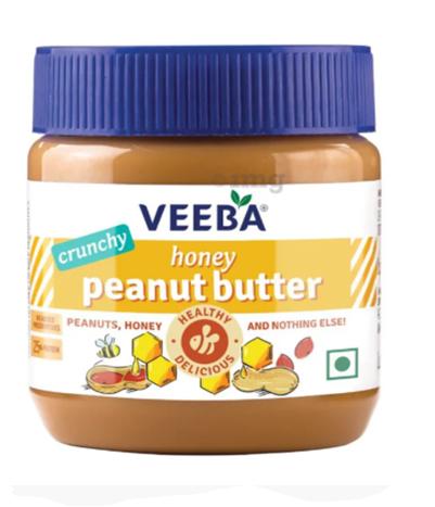 Veeba Honey Peanut Butter Crunchy  340 g