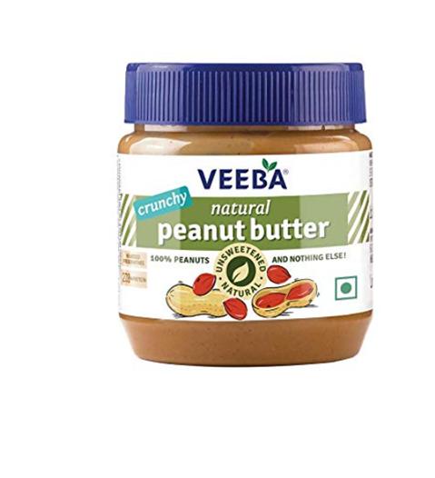 Veeba Natural Peanut Butter - Crunchy 340 g