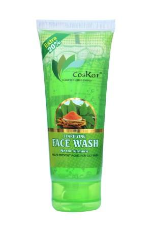 Coskot Clarifying Face Wash - Neem Turmeric 72 ml