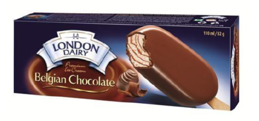 London Dairy Belgian Chocolate Ice Cream Stick 110 ml