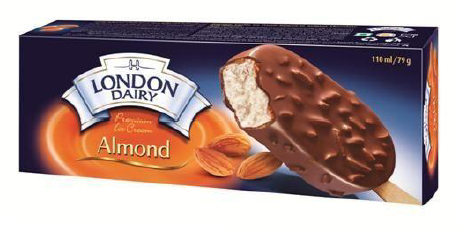 London Dairy Almond Ice Cream Stick 110 ml