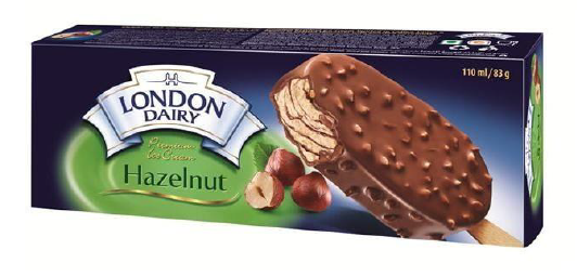 London Dairy Chocolate Hazelnut Ice Cream Stick 110 ml