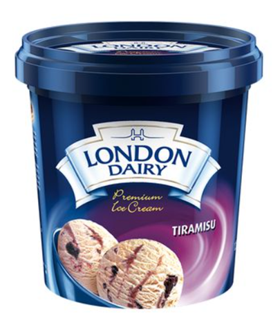 London Dairy Tiramisu Ice Cream 125 ml Cup