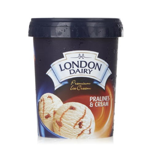London Dairy Pralines & Cream Ice Cream 500 ml Tub