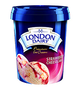 London Dairy Strawberry Cheesecake Ice Cream 500 ml Tub