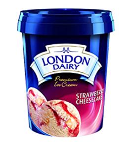 London Dairy Strawberry Cheesecake Ice Cream 500 ml Tub