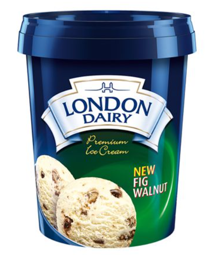 London Dairy Fig Walnut Ice Cream 500 ml Tub