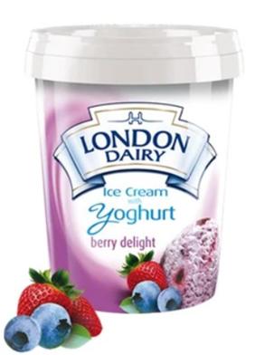 London Dairy Yoghurt Berry Delight Ice Cream 500 ml Tub