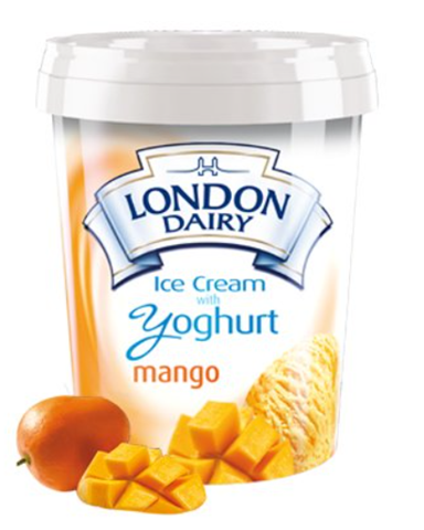 London Dairy Yoghurt Mango Ice Cream 500 ml Tub