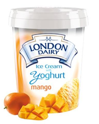 London Dairy Yoghurt Mango Ice Cream 500 ml Tub