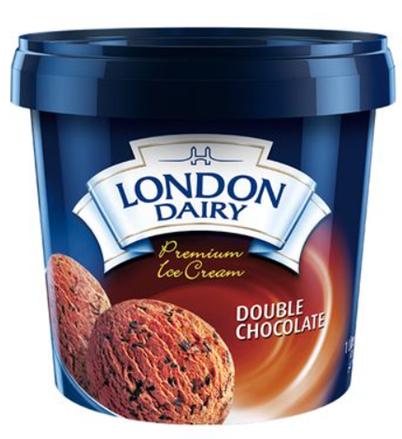 London Dairy Double Chocolate Ice Cream 1 Litre Tub