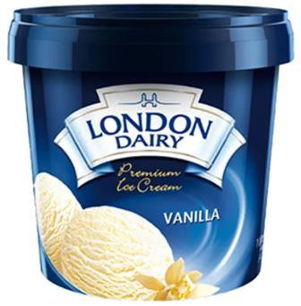 London Dairy Premium Vanilla Ice Cream 1 Litre Tub