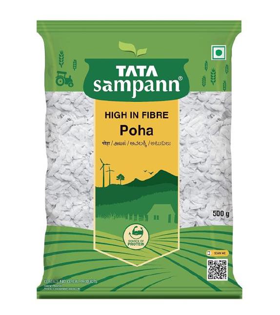 Tata Sampann Poha (High in Fibre) - 500 g