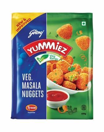 Yummiez Veg Masala Nuggets 400 g