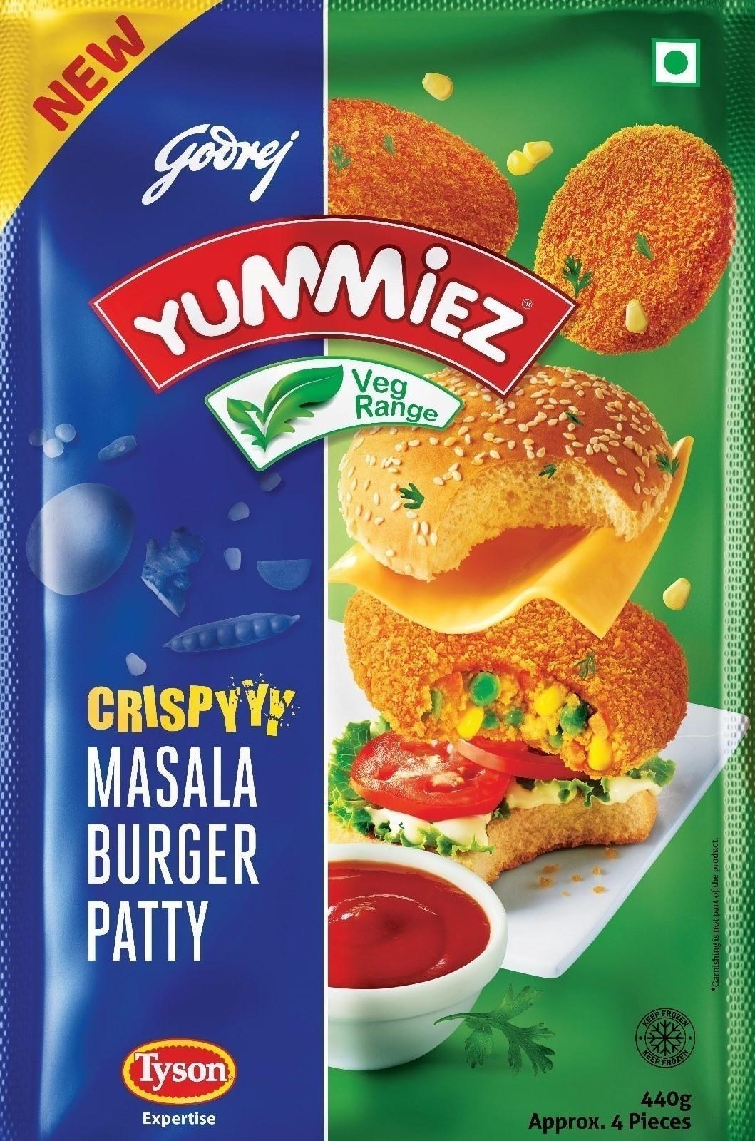 Yummiez Crispy Masala Burger Patty 440 g