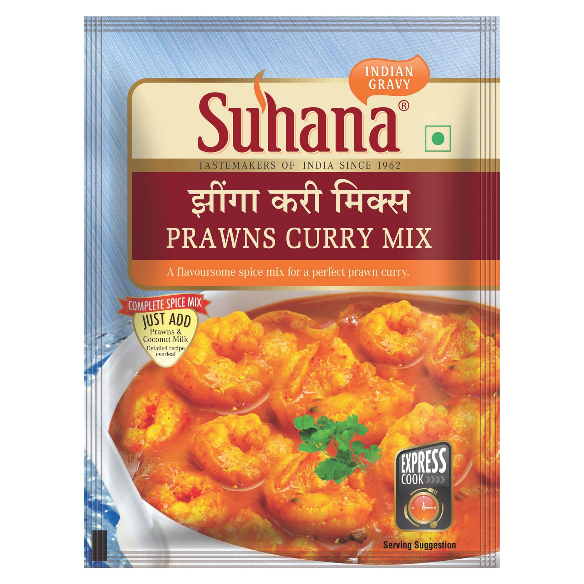 Suhana Prawn Curry Spice Mix 50g Pouch