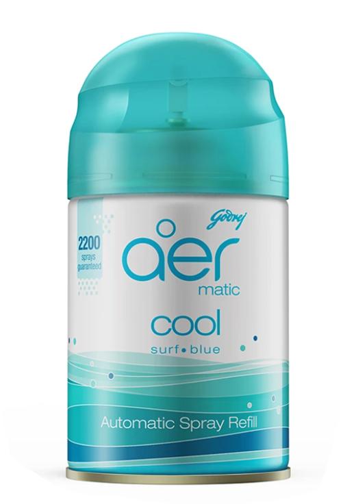 Godrej Aer Matic Automatic Air Freshener Refill Pack - Cool Surf Blue 225 ml