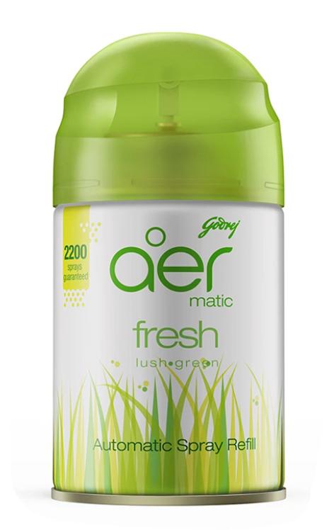 Godrej Aer Matic Automatic Air Freshener Refill Pack - Fresh Lush Green 225 ml