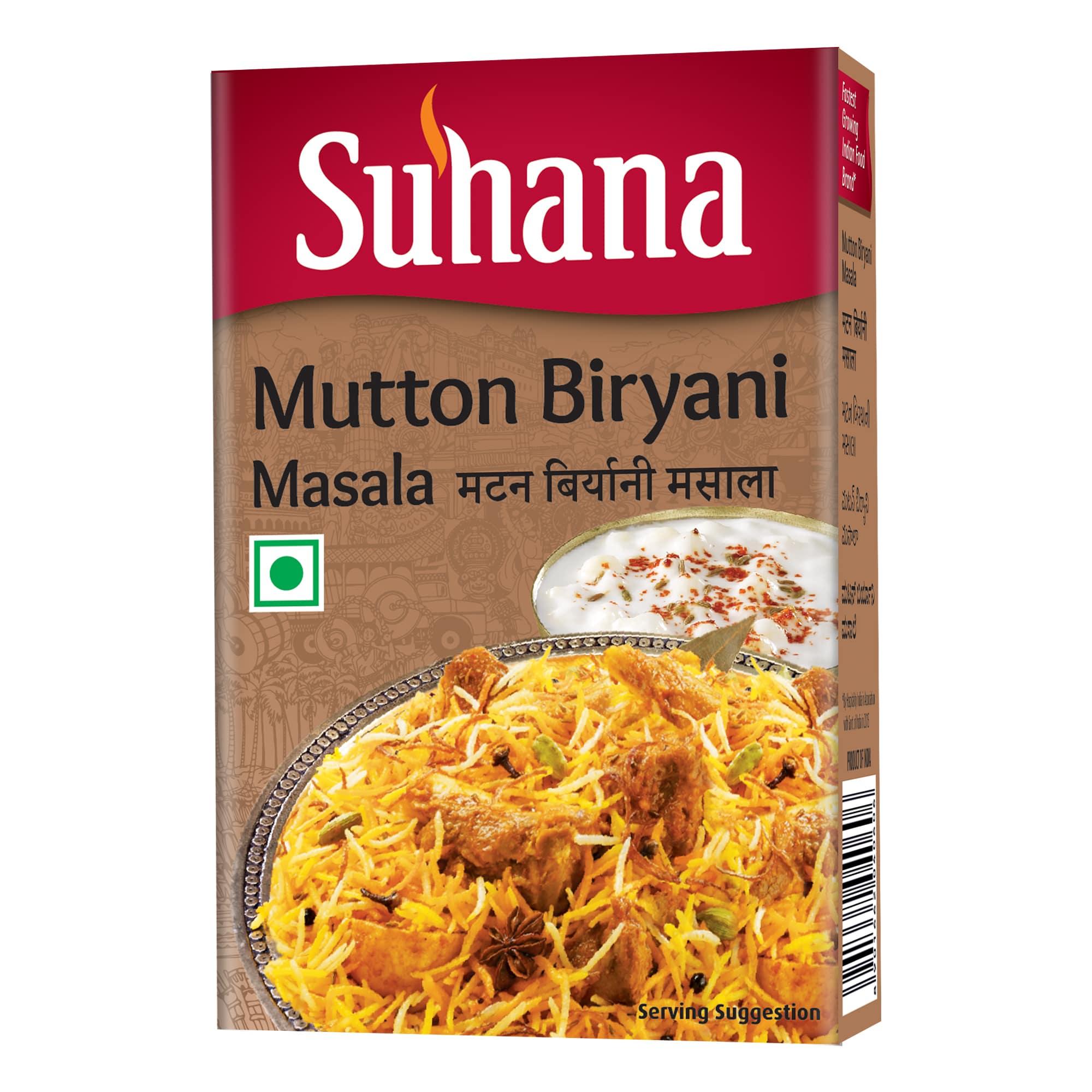 Suhana Mutton Biryani Masala 50g Box