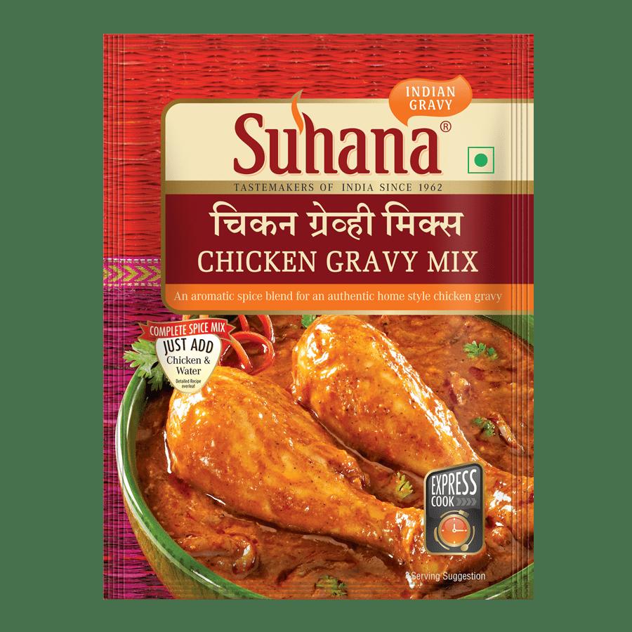 Suhana Chicken Gravy Spice Mix 80g Pouch