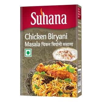 Suhana Chicken Biryani Masala 50g Box