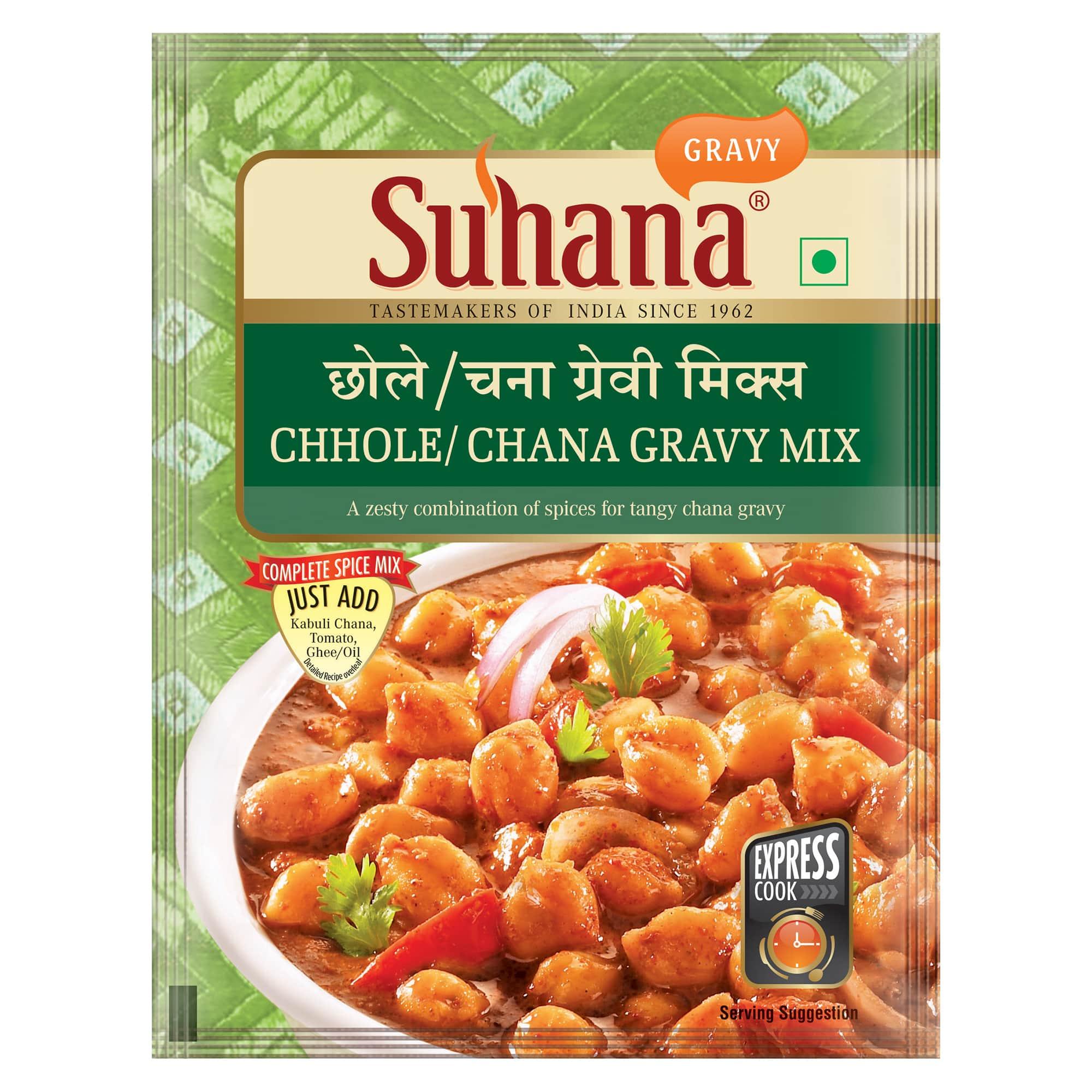 Suhana Chhole Chana Gravy Spice Mix 50g Pouch
