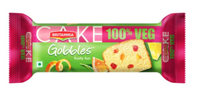 Britannia Gobbles  Fruity Fun Veg Cake 70 g