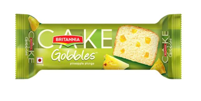 Britannia  Gobbles Cake - Pineapple Plunge 45 g