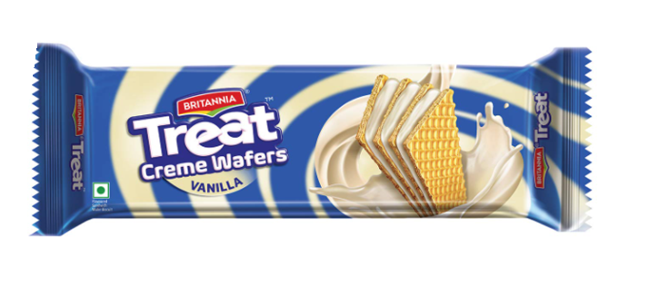 Britannia Treat Creme Wafers - Vanilla 75 g