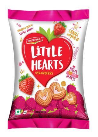 Britannia Little Hearts Strawberry Biscuits 34.5 g
