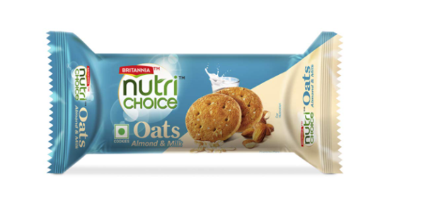 Britannia Nutri Choice Oats - Almond & Milk Cookies 75 g