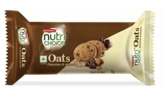 Britannia Nutri Choice Oats - Chocolate & Almond Cookies 75 g