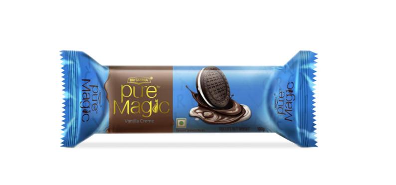 Britannia Pure Magic Vanilla Creme Biscuits 100 g
