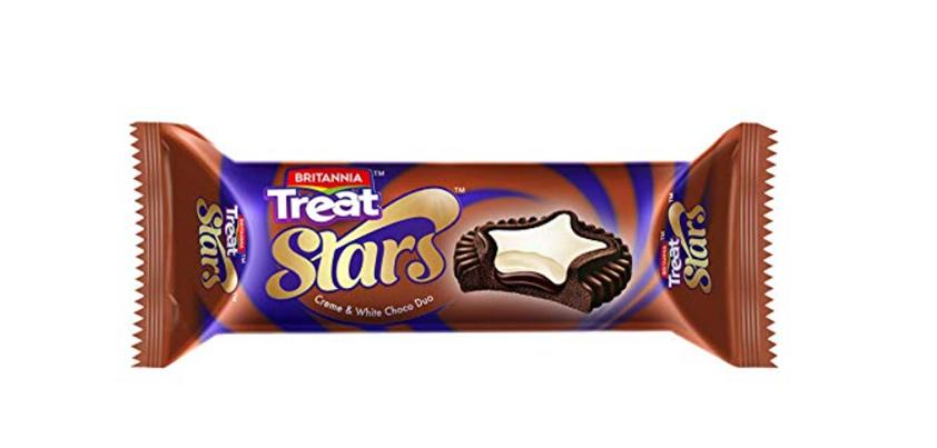 Britannia Treat Stars Creme and White Choco Duo 60 g