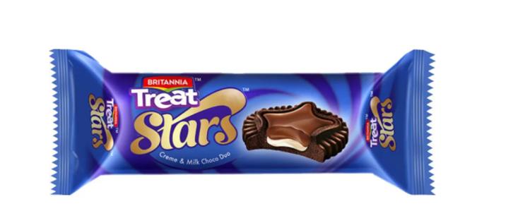 Britannia Treat Stars Creme and Milk Choco Duo 60 g