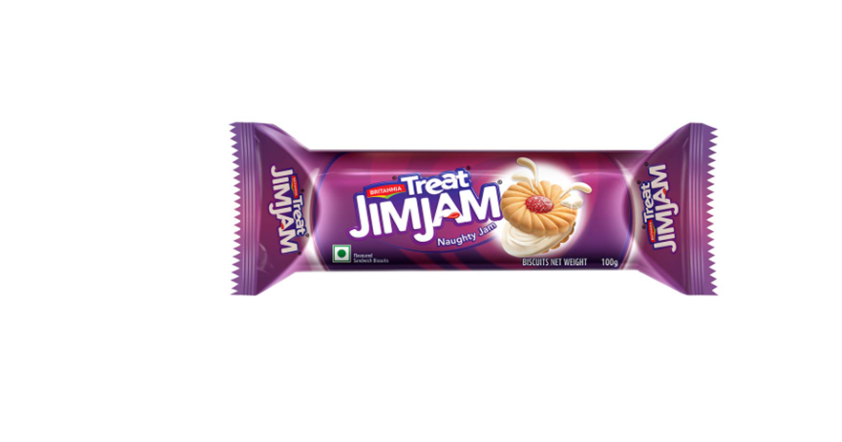 Britannia Treat Jim Jam - Naughty Jam Biscuits 100 g
