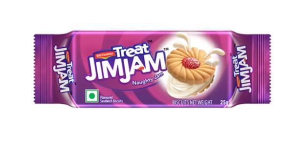 Britannia Treat Jim Jam - Naughty Jam Biscuits 25 g