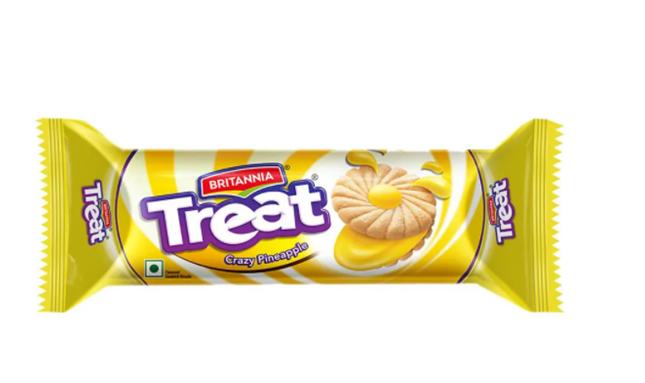 Britannia Treat Crazy Pineapple Cream Biscuits