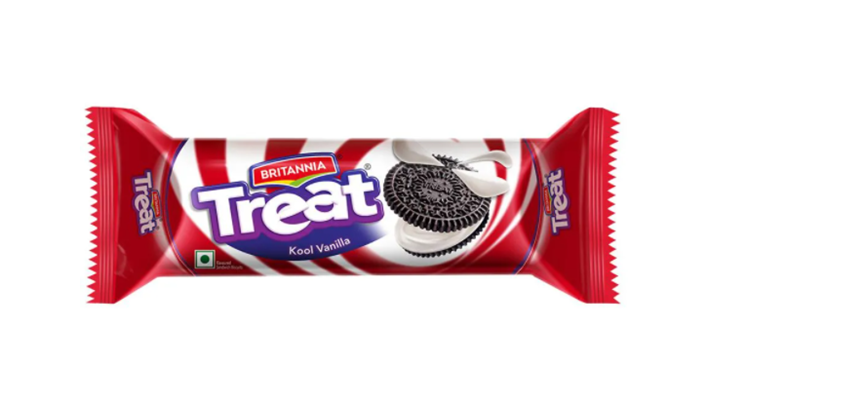 Britannia Treat Funky Kool Vanilla Cream Biscuits