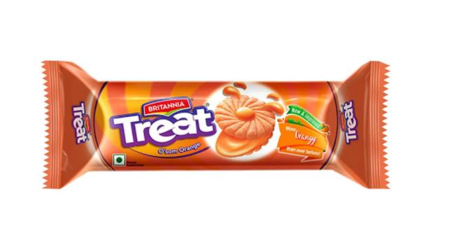 Britannia Treat O'som Orange Cream Biscuits