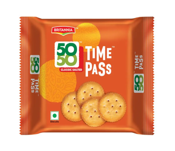 Britannia 50 50 Time Pass Biscuits 78 g