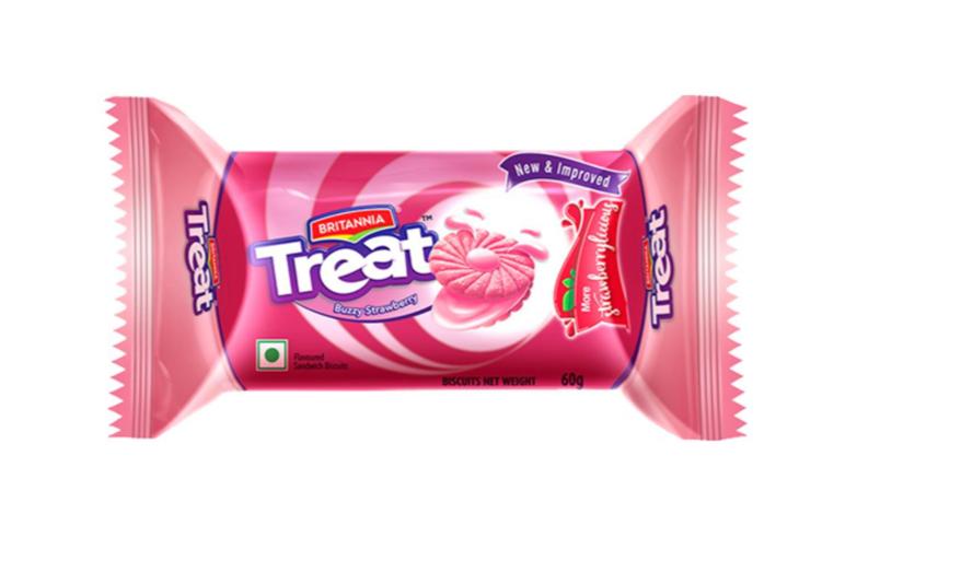 Britannia Treat - Buzzy Strawberry Biscuits 60 g