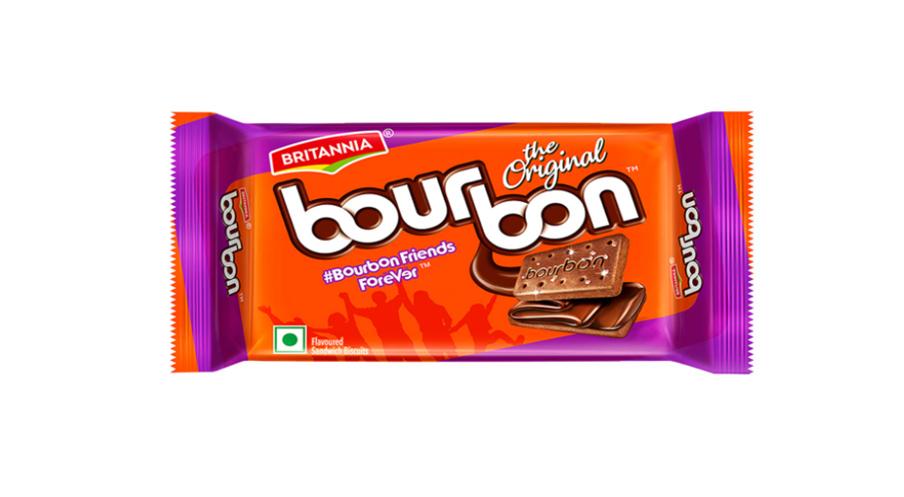 Britannia Bourbon Chocolate Cream Biscuits - 60 g