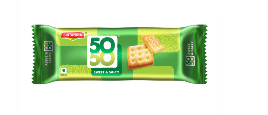 Britannia 50 50 Sweet and Salty Biscuits - 76 g