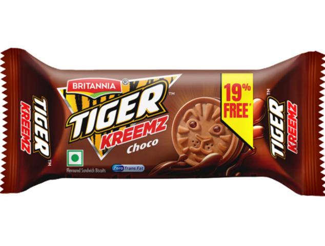 Britannia Tiger Kreemz  Choco Biscuits - 43 g