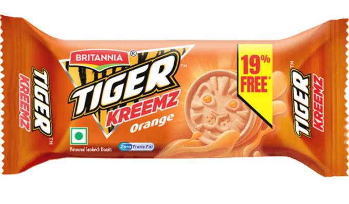 Britannia Tiger Kreemz  Orange Biscuits - 43 g